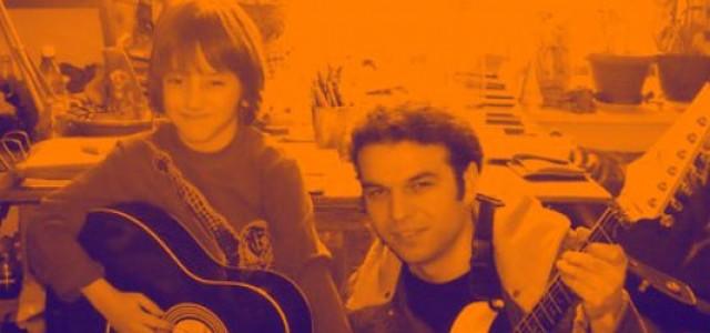 David şi chitara, la 7 ani