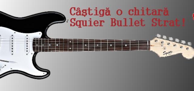 Concurs: Câştigă o chitară electrică Squier Bullet Strat!