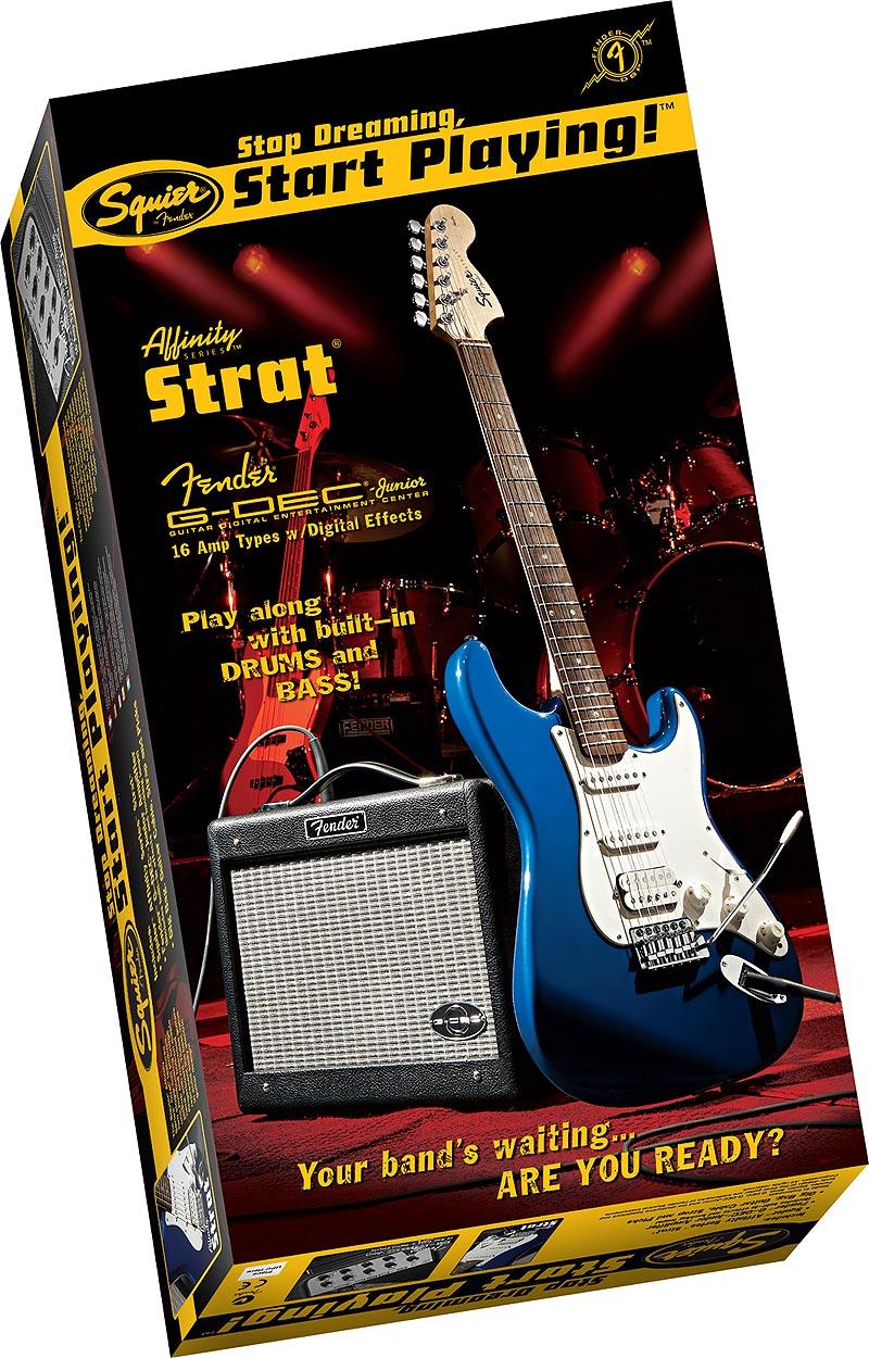 Pachet chitara electrica Squier Affinity Strat